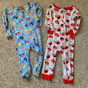 Other - Paw Patrol and Elmo Footless Jammies